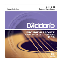 D'Addario EJ26 Phosphor Bronze, Custom Light, 11-52 Acoustic Guitar Strings