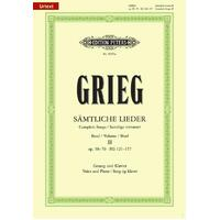 Grieg - Complete Songs Vol 2