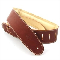 DSL Guitar Strap Padded Leather Garment *NEW* 2.5 Inch Brown Made In Australia