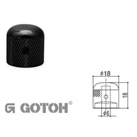 Electric Guitar Control Knobs - GOTOH Black knob, Dome top
