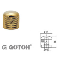 Electric Guitar Control Knobs - GOTOH Gold knob, Dome top