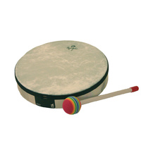 "Remo - Lynn Kleiner - Hand Drum, White *NEW* Children's percussion, 8"" mallet"