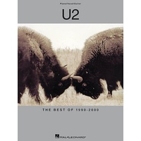 U2 - Best Of 1990 - 2000 Pvg Book Sheet Music Piano Vocal Guitar