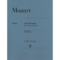Wolfgang Amadeus Mozart - Eight Minuets K. 315a (315g) Piano Solo Book *NEW*