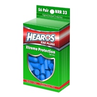 HEAROS Xtreme Pack Ear Plugs Filters Blue Foam 56 Pairs *NEW* Noise Reduction US