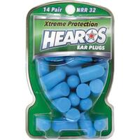 HEAROS Xtreme Pack Ear Plugs Filters Blue Foam 14 Pairs Noise Reduction
