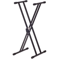 KS128 KEYBOARD STAND X STYLE FLAT-97CM DOUBLE BRACED BLACK