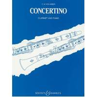 Weber - Concertino In E Flat Op 26 Clarinet/Piano