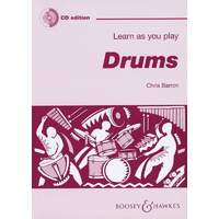 Learn As You Play Drums Bk/Cd