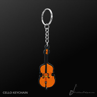 Key Chain Cello Shape, Quality Musical Giftware, Music Gift