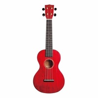 MAHALO - Hano Series Concert Ukulele with Aquila Strings Trans Wine Red