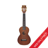 Mahalo Natural Mahogany Concert Ukulele and Bag