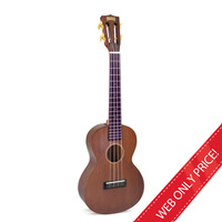 Mahalo Natural Mahogany Tenor Ukulele and Bag