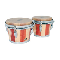 "MANO PERCUSSION Bongo Drums *NEW* Bongos, Tunable 7"" & 8"" skin heads, wood"