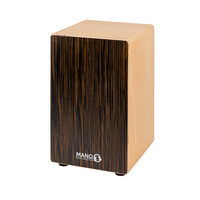 Cajon Rhythm Box Ebony Front with Heavy Duty Padded Bag