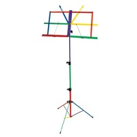 MS109H Fold Up Music Stand with Rainbow Colours