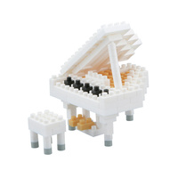 nanoblock Musical Instruments Grand Piano White *NEW* inc. instructions