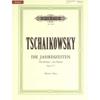 Tchaikovsky - Die Jahreszeiten Opus 37 Solo Piano Book *New* Sheet Music, Peters