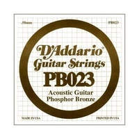5 X D'Addario PB023 Single Phosphor Bronze Acoustic Guitar Strings
