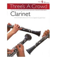 THREES A CROWD BK 1 CLARINET TRIOS