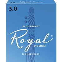 10 x Rico Royal Bb Clarinet Reeds 3.0 strength *NEW* Box of 10, students