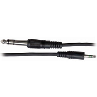 AUSTRALASIAN Lead / Cable 3.5 Stereo Jack - 6.3 Stereo Jack *NEW* 6ô®  Foot
