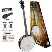 BRYDEN 5 String Banjo Pack SBJ1PK *NEW* Bag, Tuner, Strap, Strings, Picks