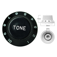Strat Style Control Tone Knob For Electric Guitar  Japanese Black