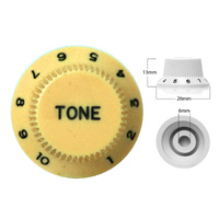 Strat Style Control Tone Knob For Electric Guitar  Japanese Creme