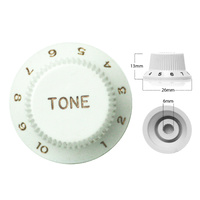 Strat Style Control Tone Knob For Electric Guitar  Japanese White