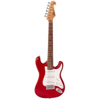 SX Beginner Electric Guitar & Amp Pack Red with lead, picks, tuner & more NEW