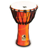 9 Inch Djembe Freestyle 2 Rope Tuned Fiesta Red