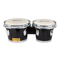 Bongos Wooden Black 6 & 7 Inch Tunable Natural Hide Skin
