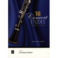 Rae - 18 Concert Etudes For Solo Clarinet