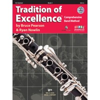 Tradition Of Excellence Clarinet Music Book 1 + Dvd *New* Pearson & Nowlin