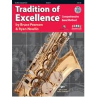 Tradition Of Excellence Alto Saxophone Music Book 1 + DVD *NEW* Pearson & Nowlin