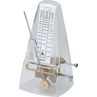 Metronome Clear Plastic Pyramid Style Cherub *NEW* 40-208 BPM & Bell for Time