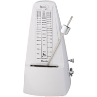 Cherub Metronome White Plastic Pyramid Style with Bell