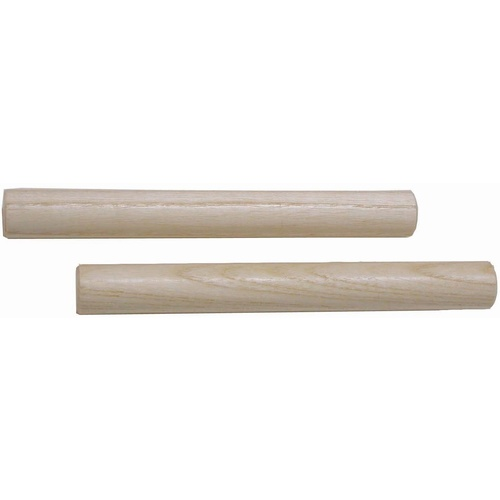 Claves 7 Inch Long Round Wooden Pair Natural Finish